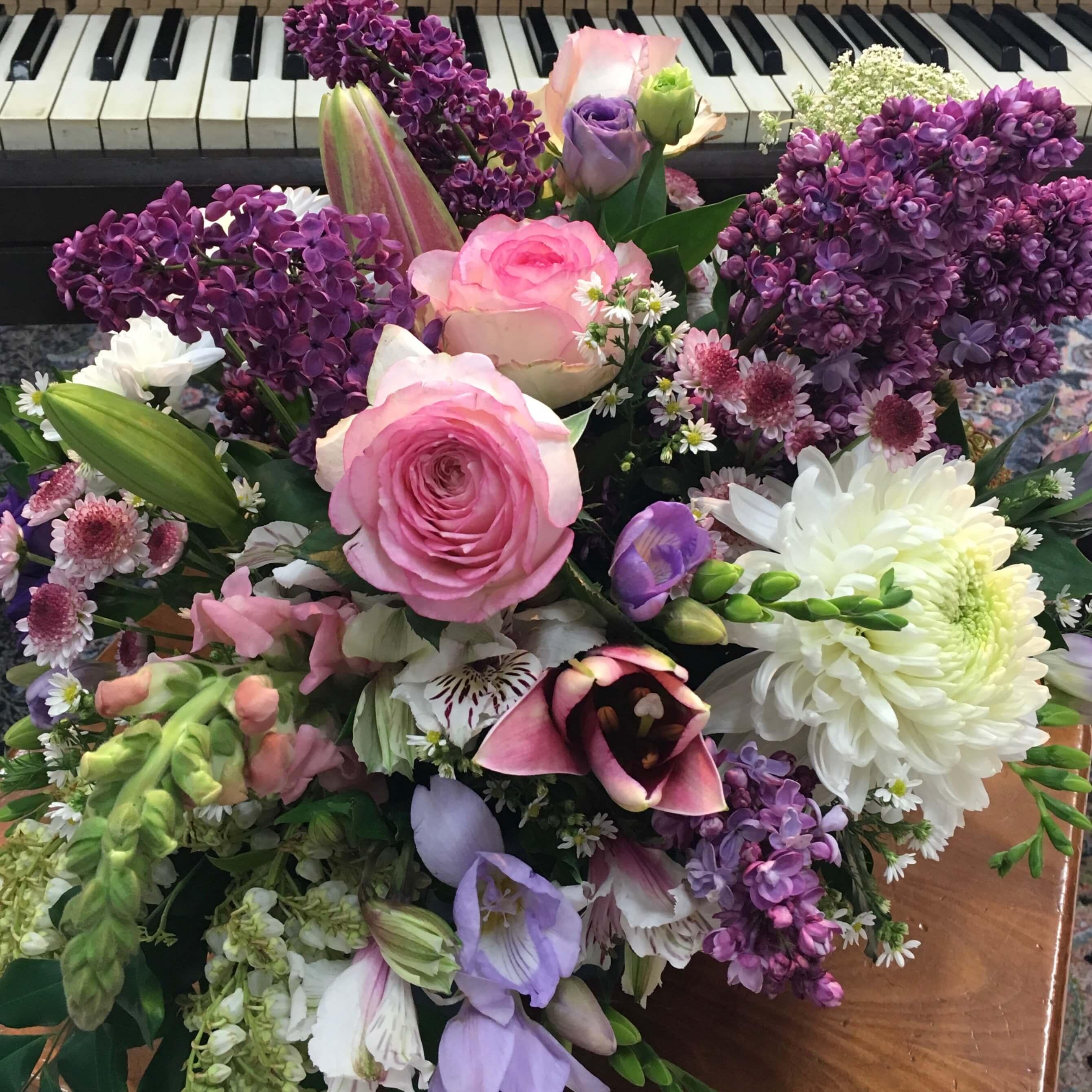 A Touch Of Purple Arrangement