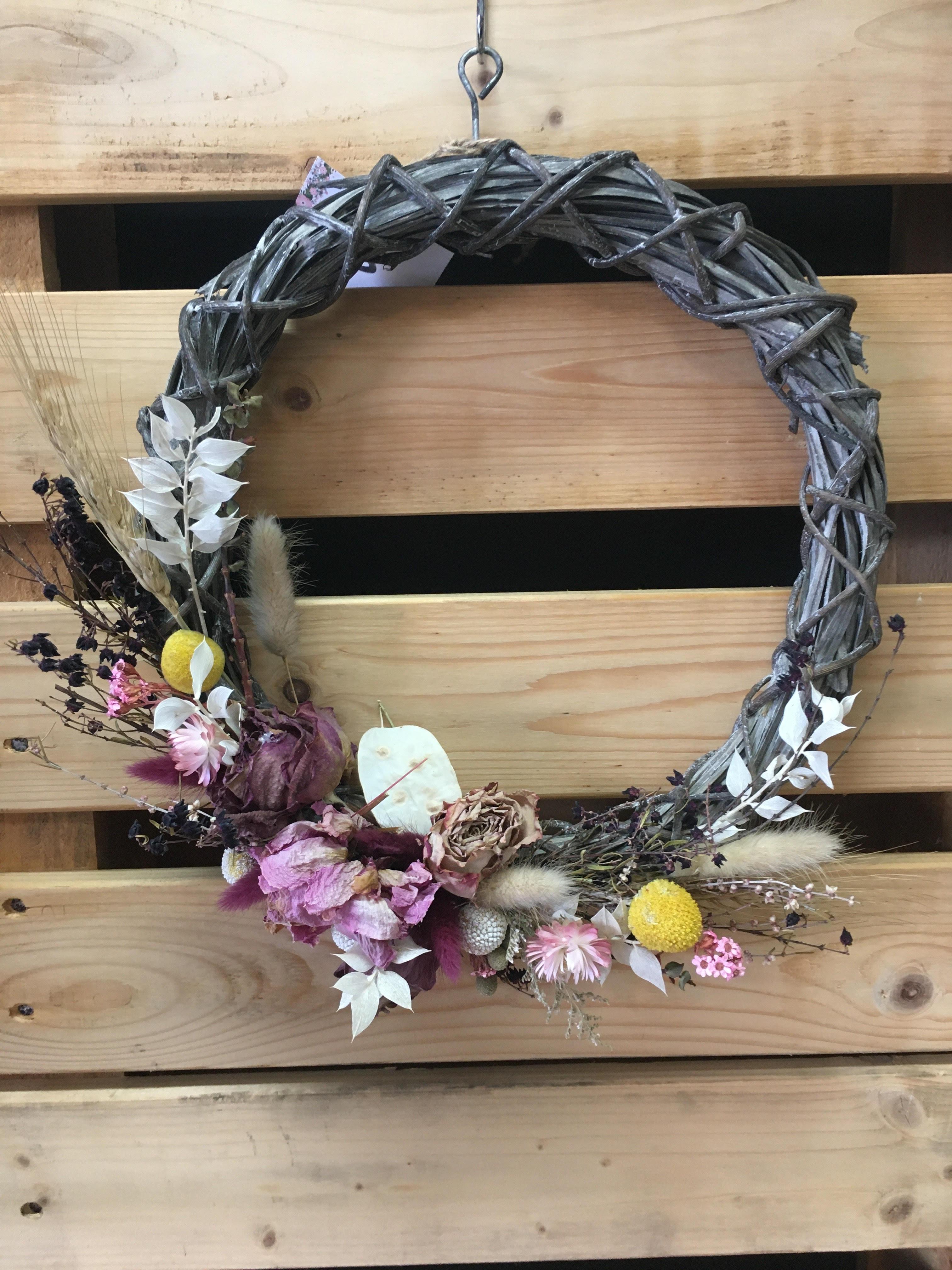 Seasonal Dried Flower Wreath